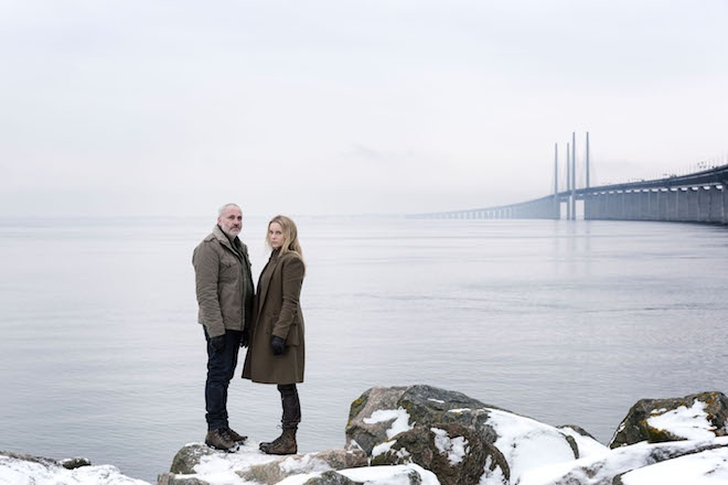Saga Norén (Sofia Helin,rechts) und Martin Rohde (Kim Bodnia) (Bild: obs/ZDF/ZDF/Carolina Romare)